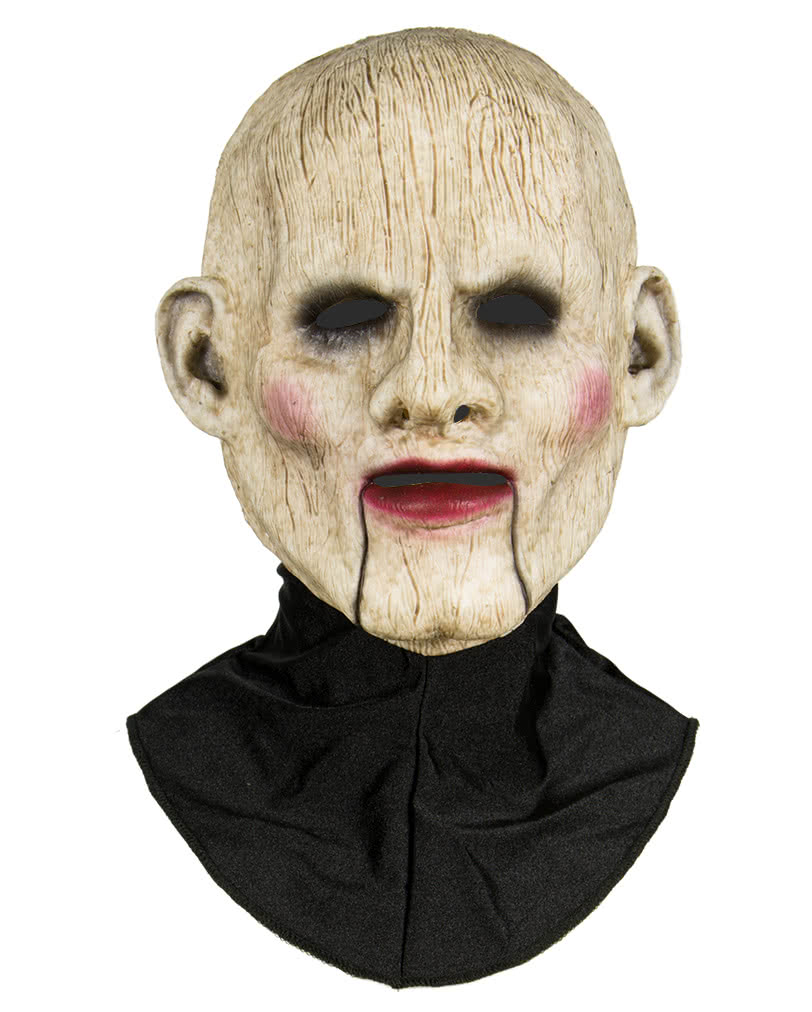 Silicone half mask ventriloquist's dummy Halloween silicone mask ...