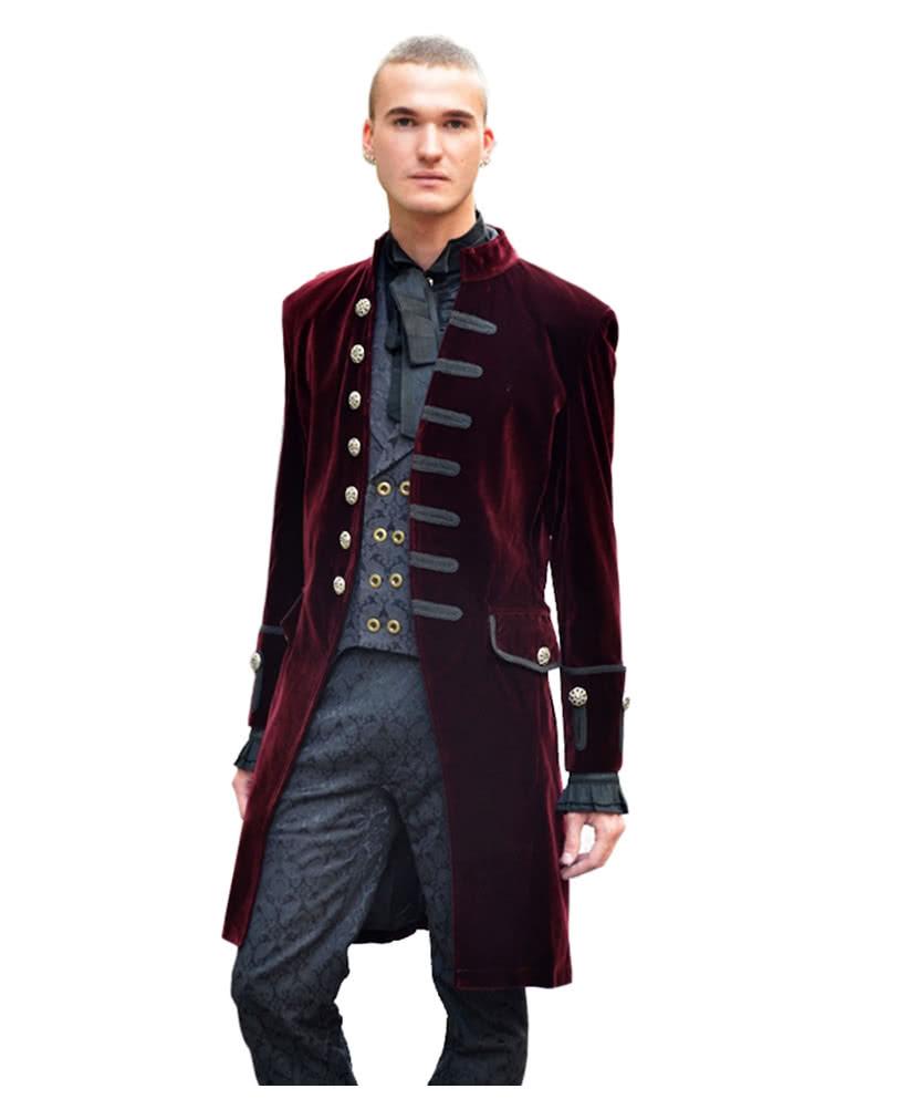 Men velvet frock coat   High-quality Victorian frock coat   horror ...