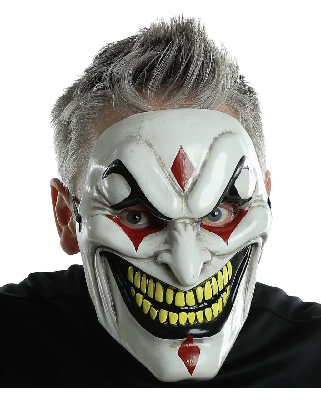 Evil Jester Horror Mask | Halloween half mask | horror-shop.com