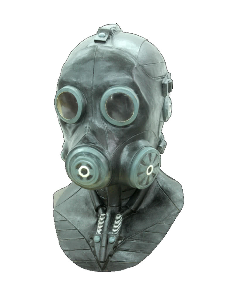 Gas Mask Deluxe | World War latex mask | horror-shop.com