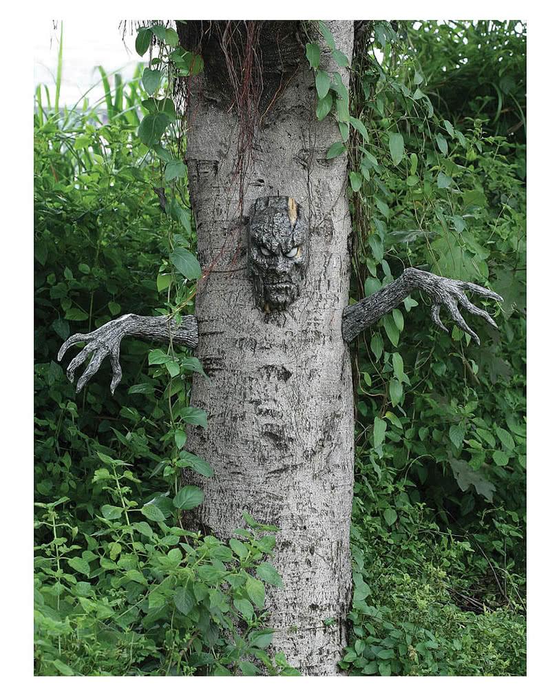 halloween baum geist | 3 tlg. grusel-dekoration für bäume | horror ... - Dekoration Baum