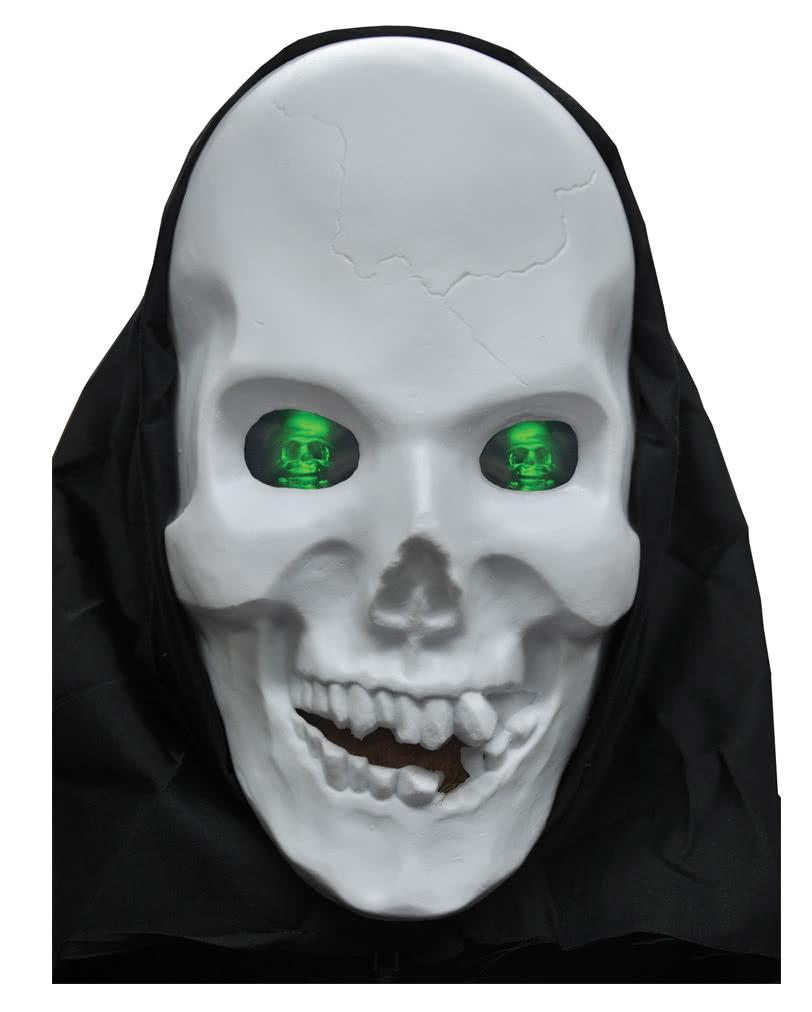 Skull mask with eyes Hologram | Halloween Skull Mask | horror-shop.com