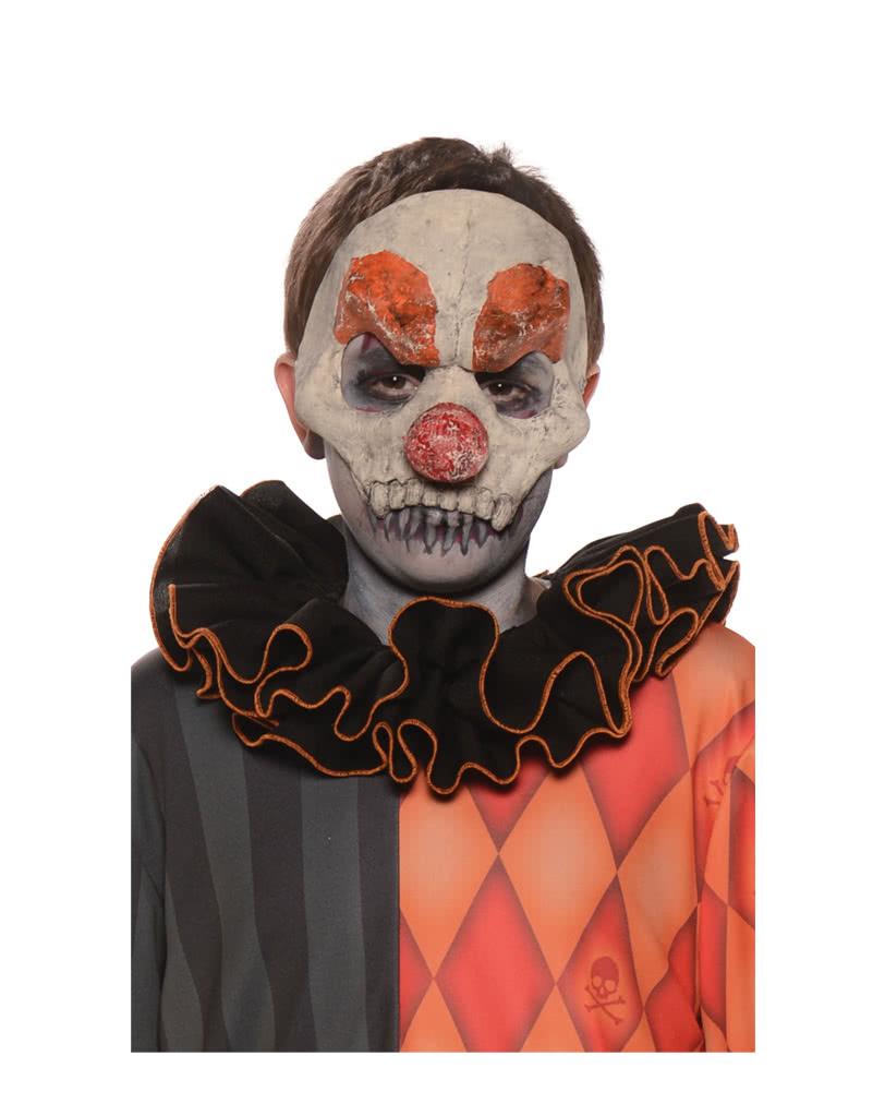 Horror Clown Half Mask   Mask up as Killer Clown!   horror-shop.com