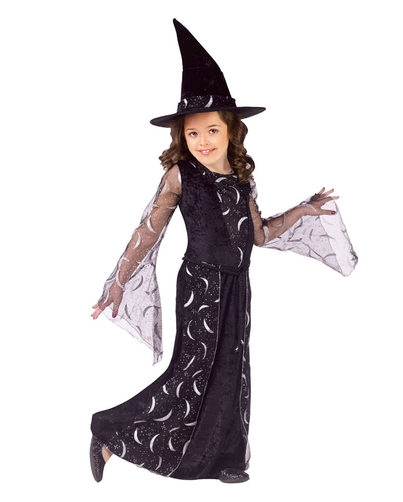 Crescent Moon Witch Child Costume M Witch costume for kids ...