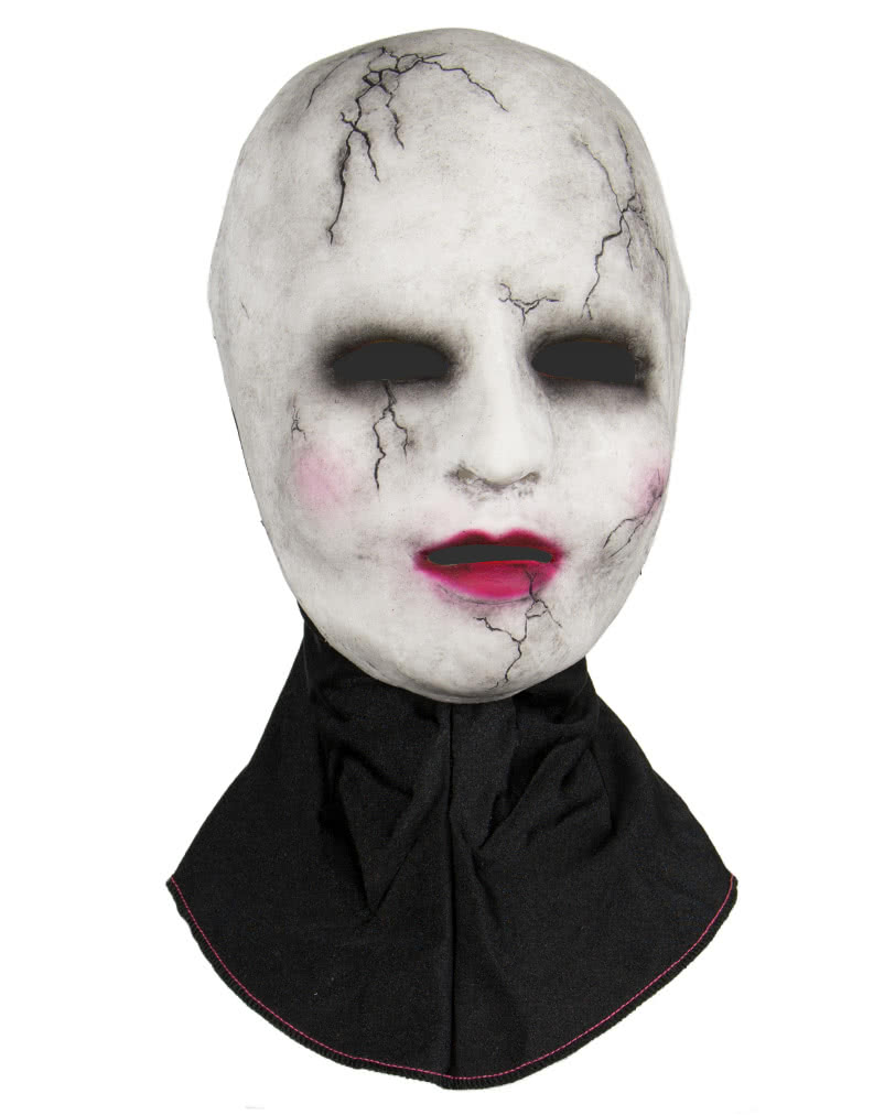 Silicone half mask porcelain doll Creepy Doll Horror Mask | horror ...