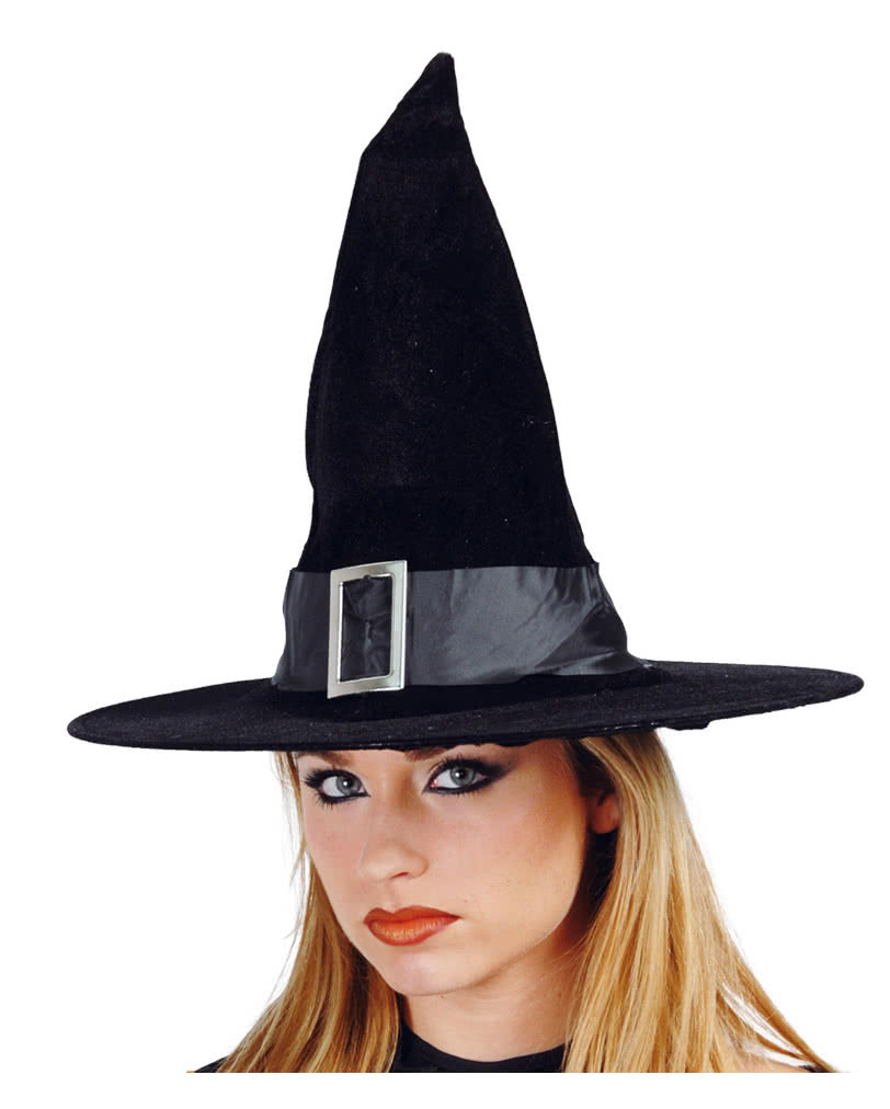 Velvet Witch Hat With Buckle | Witch outfit for Halloween | horror ...