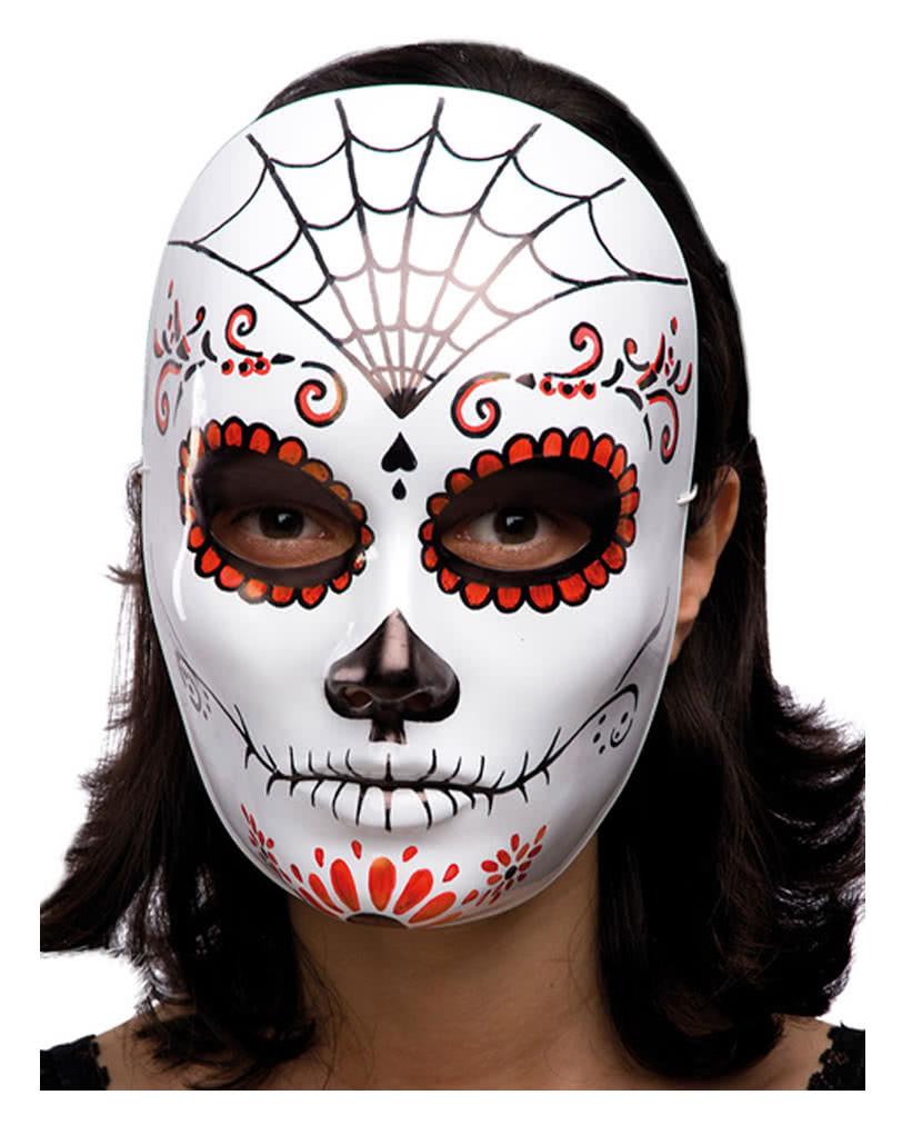 Halloween mask with spider web | Horror Masks | horror-shop.com