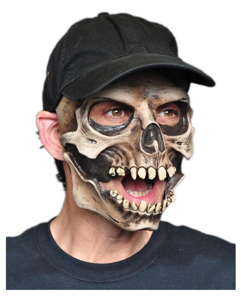 Skull mask with baseball cap For Halloween | horror-shop.com