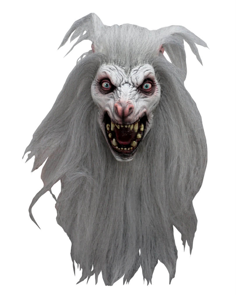 White Moon Werewolf Mask | Halloween wolf mask | horror-shop.com