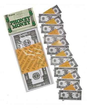 100 Dollars Scheine Spielgeld 50 St.