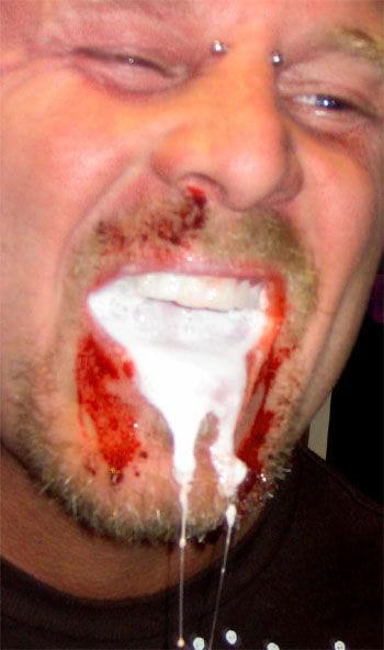 Rabies foam capsules white