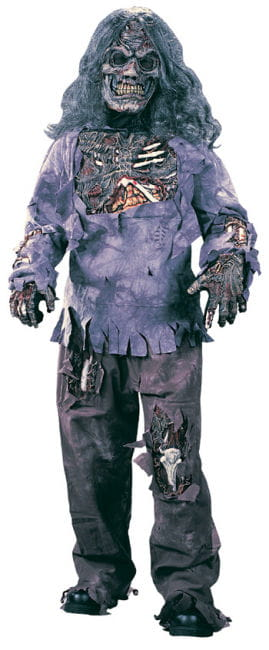 Zombie Deluxe Child Costume Large