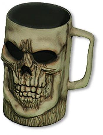 Creepy Skull Beer Mug