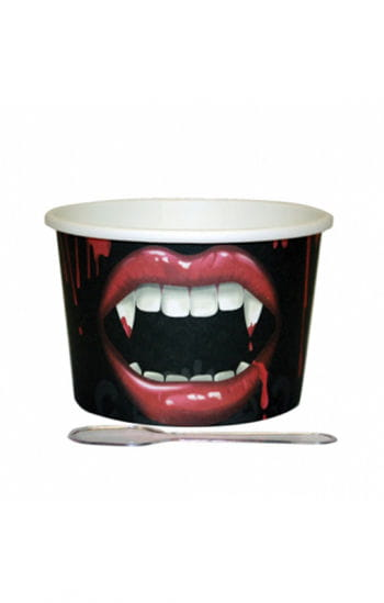 Dessert Cups Vampire Bite with Spoons 12 PCS