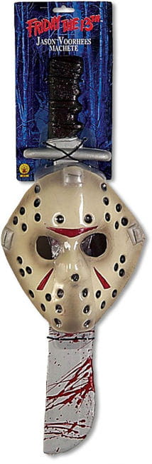 Jason Mask and Machete Kombipack