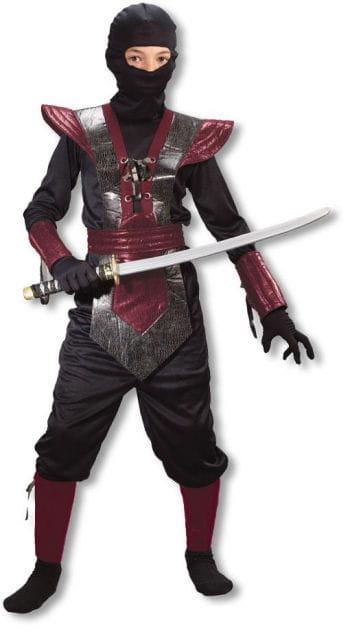 Ninja Fighter Kinderkostüm rot L
