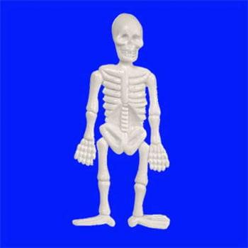 Weißes Mini Skelett 6cm