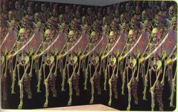 Skelett Armee Wandfolie