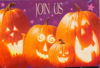 Halloween Party Einladungskarten Kürbis 8 St.