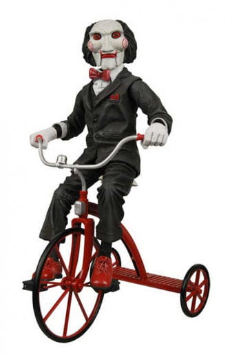 SAW Jigsaw doll on tricycle 30cm