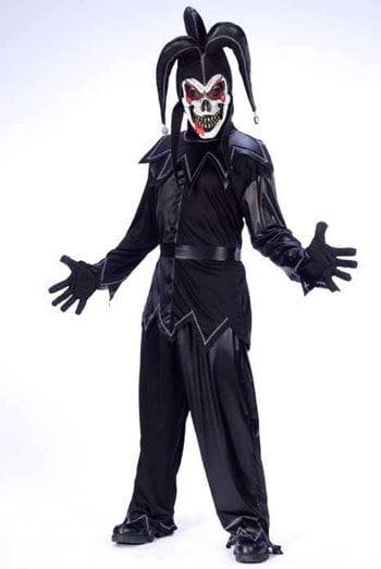 Harlequin Clown Costume Black White