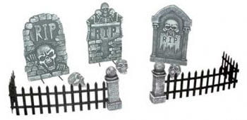 Zombie Friedhofs-Szene Tischdekoration 12teilig
