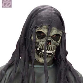 Ragged skeleton Mask Grey