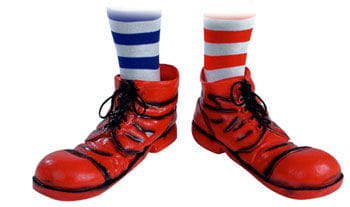 Clown Shoes Black / Red