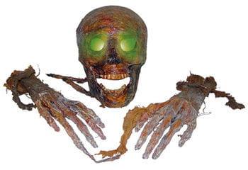 Mumifizierter LED Totenschädel