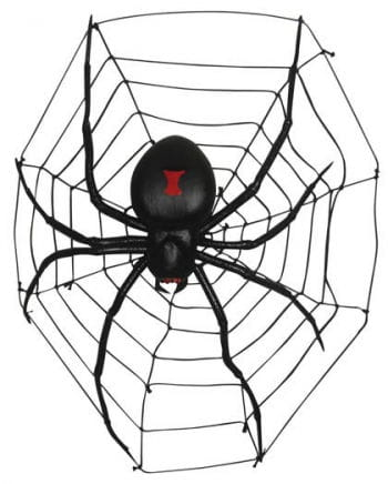 Realistic Giant Spider with Net