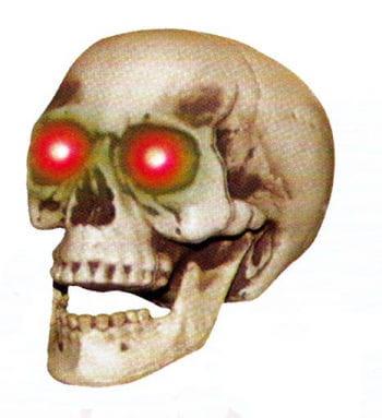 Shaking Skull with LED Eyes