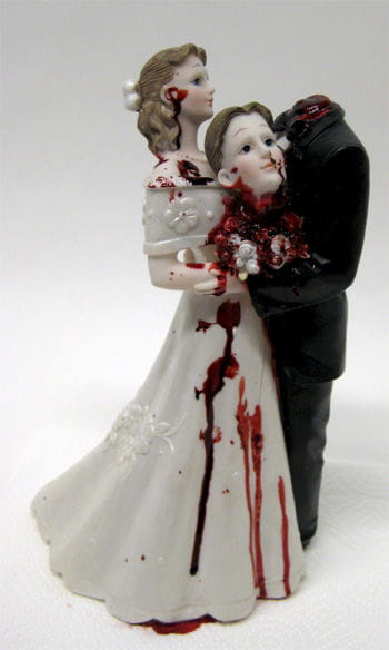 Bloody Bridal Couple with Beheaded Groom