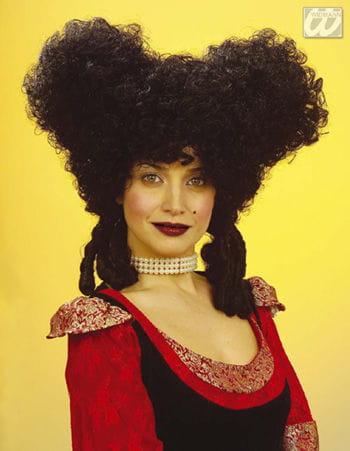 Baroque Style Wig Black