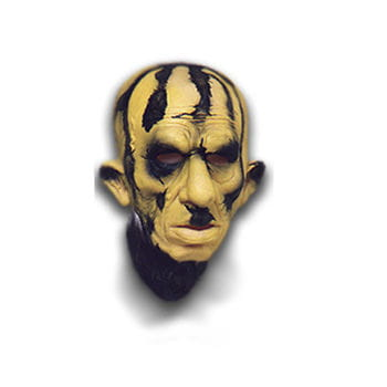 Sulfur Zombie Mask made of foam latex