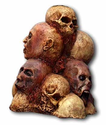 Pile of Heads Welcome Sign