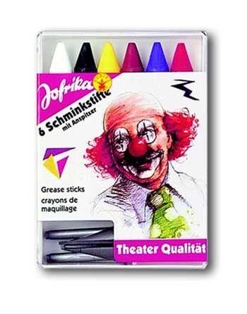 6 make-up pencils with sharpener