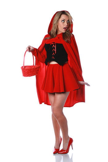 Sexy Little Red Riding Hood Costume Size XL 40/42