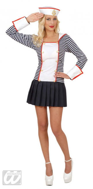 Sexy Sailor Bride Costume Size S 36/38