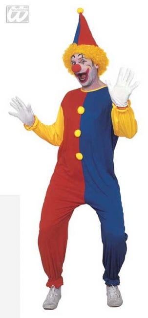 Clown Costume Red Blue Yellow