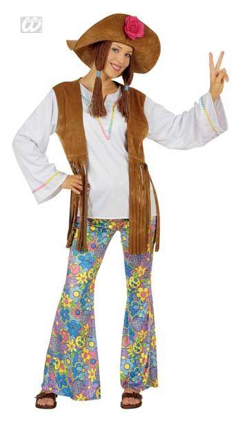Hippie Women's Costume With Braids Gr. S