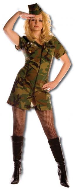 Scharfes Army Girl Premium Kostüm Gr. XL