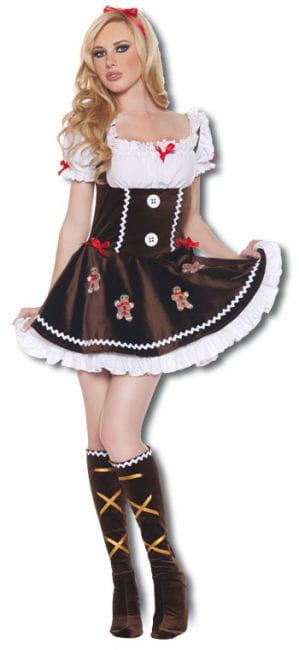 Delicate Gingerbread Woman costume M