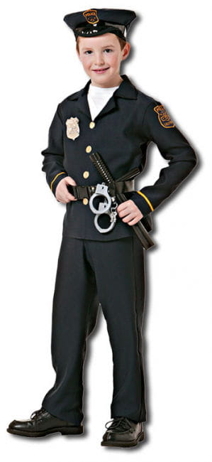 Policeman Child Costume L
