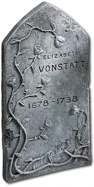 Elizabeth Vonstatt grave stone