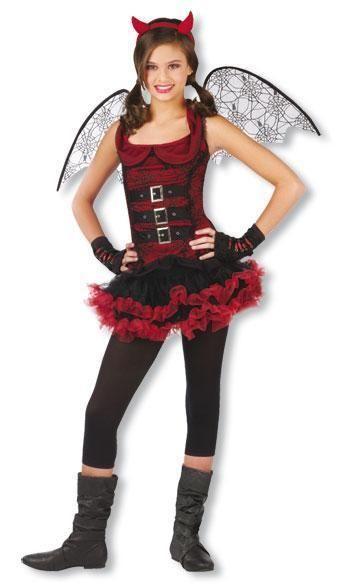 Fledermaus Teufels Teenie Kostüm
