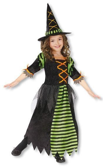 Little Halloween Witch Child Costume L