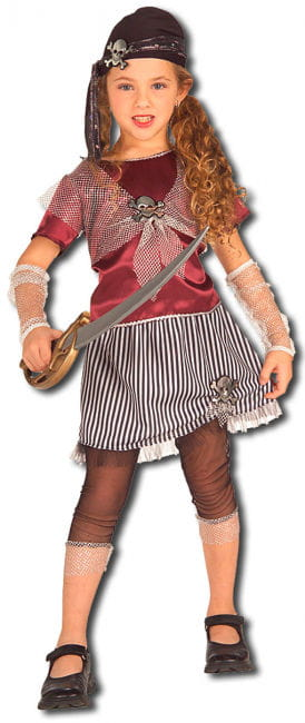 Caribbean Pirate Princess Child Costume