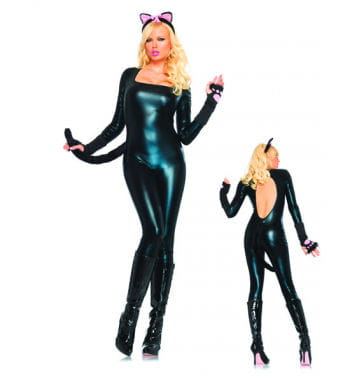 Black Shiny Catsuit