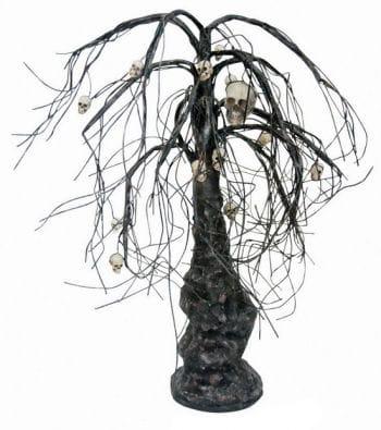 Halloween tree with skull