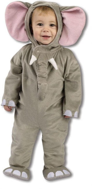 Plush elephant costume 6 to 12 Mon